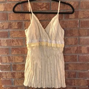 Studio Y Embroidered Tank Top. Size: S